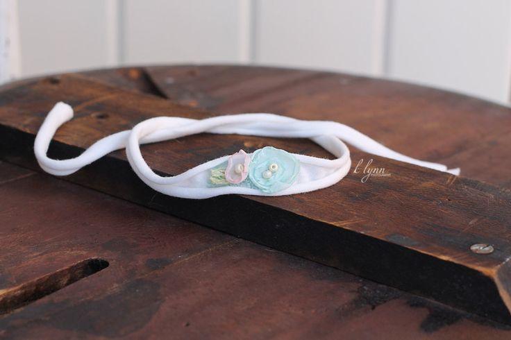 Newborn headband,Newborn photo prop,Baby girl accessory,Infant tieback,Toddler photo prop,Dainty headband,Spring headband,Baby headband - pinned by pin4etsy.com