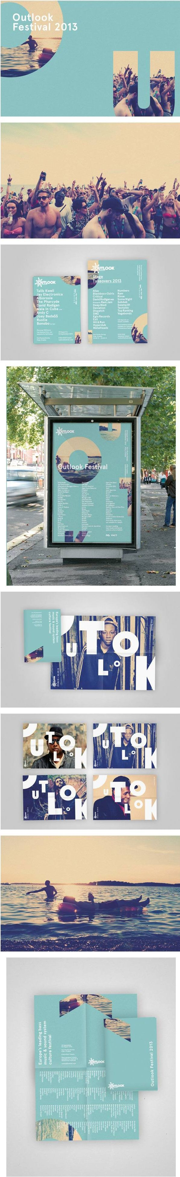 large letter cutouts of big background image, experimental design, interactive, typography, photography, modern, playful, editorial design, poster, magazine layout, brochures, music festival