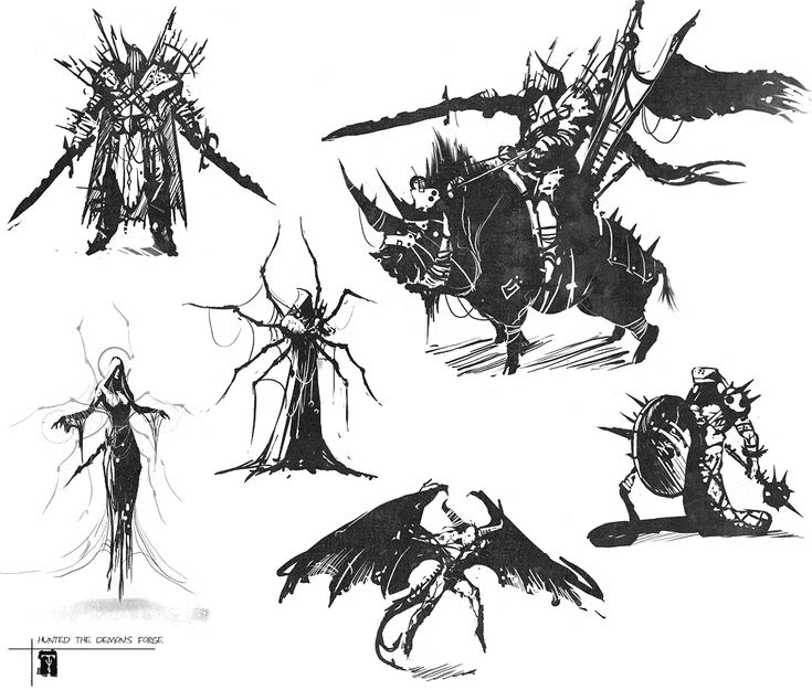 Character Design Forge : Enemy sketches hunted the demon s forge art pictures