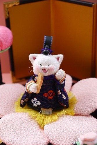 「 ミニねこ雛 」 - ちりめん猫のハンドメイド日和