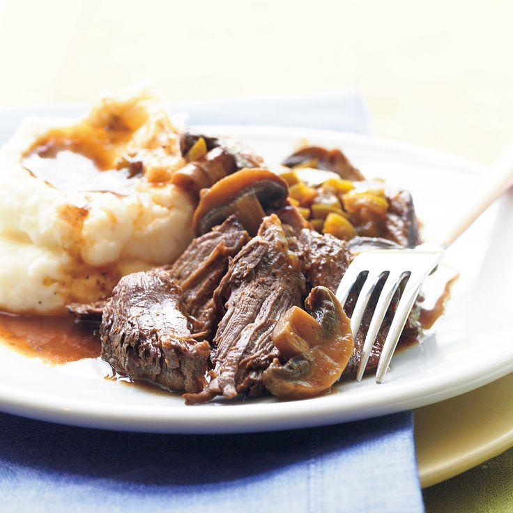Slow-Cooker Beef Pot Roast | MyRecipes  2 lbs. boneless beef shoulder roast