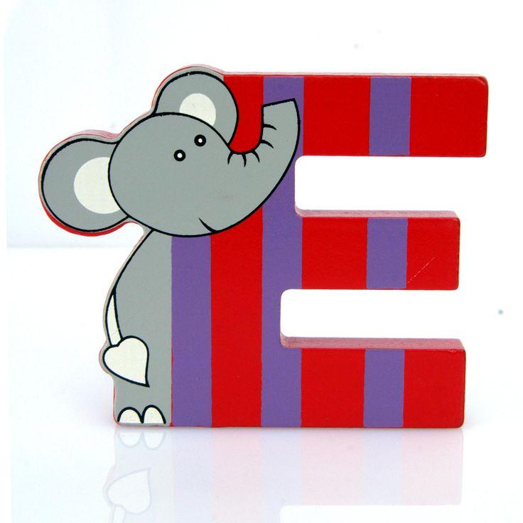 Simpatica lettera E in Legno con l'aspetto di un Elefante, per decorare e rendere più bella la cameretta componendo nomi, frasi. Sono disponibili tutte le lettere dell'alfabeto  Può essere appoggiata su una mensola oppure si puo' fissare con colla o biadesivo o possono anche essere utilizzate per giocare.  Dimensioni cm 8,5 x 7 x 1  Materiale: Legno.   I colori possono cambiare in base alle disponibilita'