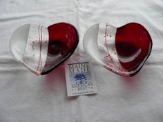 fused glass valentine bowl | Fused hearts More