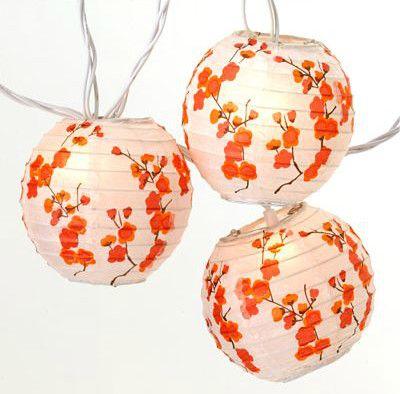 asian lighting. cherry blossom lantern string lights asian lighting