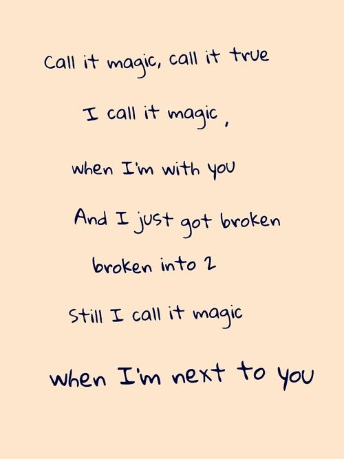Coldplay – Magic ~No, I don't. No, I don't. No, I don't want anybody else, but you ~