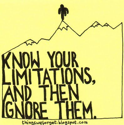 what long distance running is all about! know your limitations, and then ignore them!