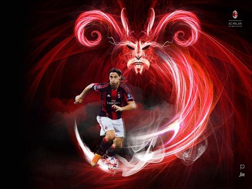 Wallpapers AC Milan. Football team Italy.