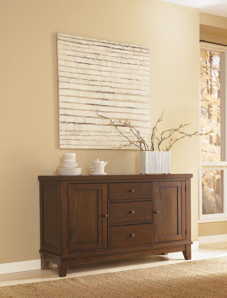 Signature Design By Ashley U0027Hollowayu0027 Mahogany Dining Room Buffet Info