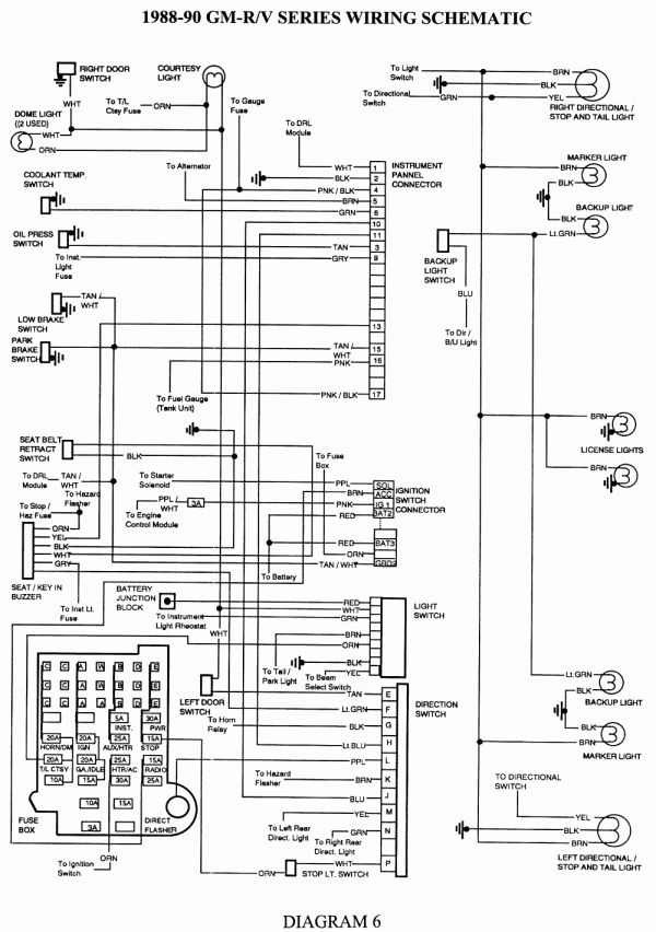 16 89 chevy truck radio wiring diagram  trailer wiring