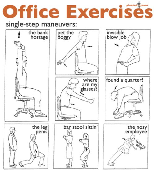 45 best Office exercises images on Pinterest Office exercise - office exercise