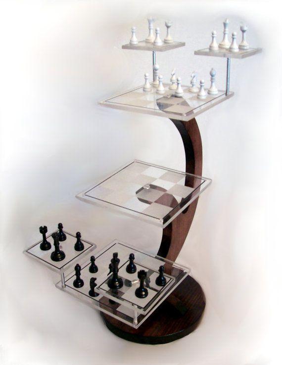 TriDimensional Chess Set Custom Star Trek Style 3D by mdbuch15, $150.00