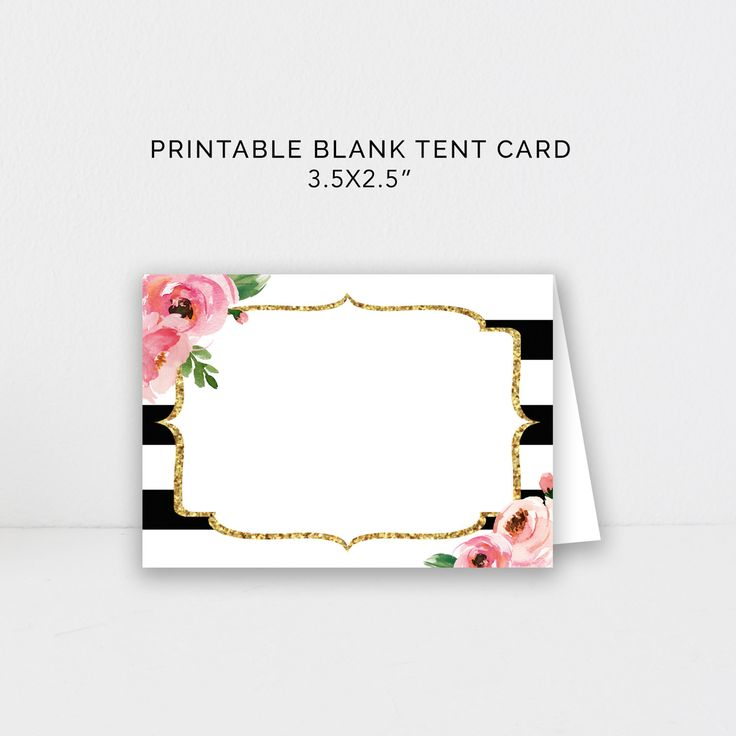 Food Tent Card Editable Template, DIY Kate Place Cards