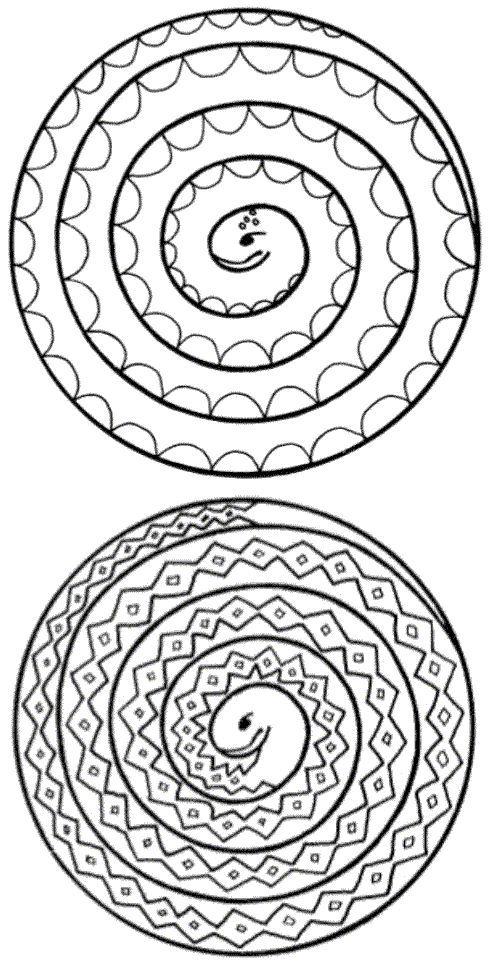 Serpent en spirale