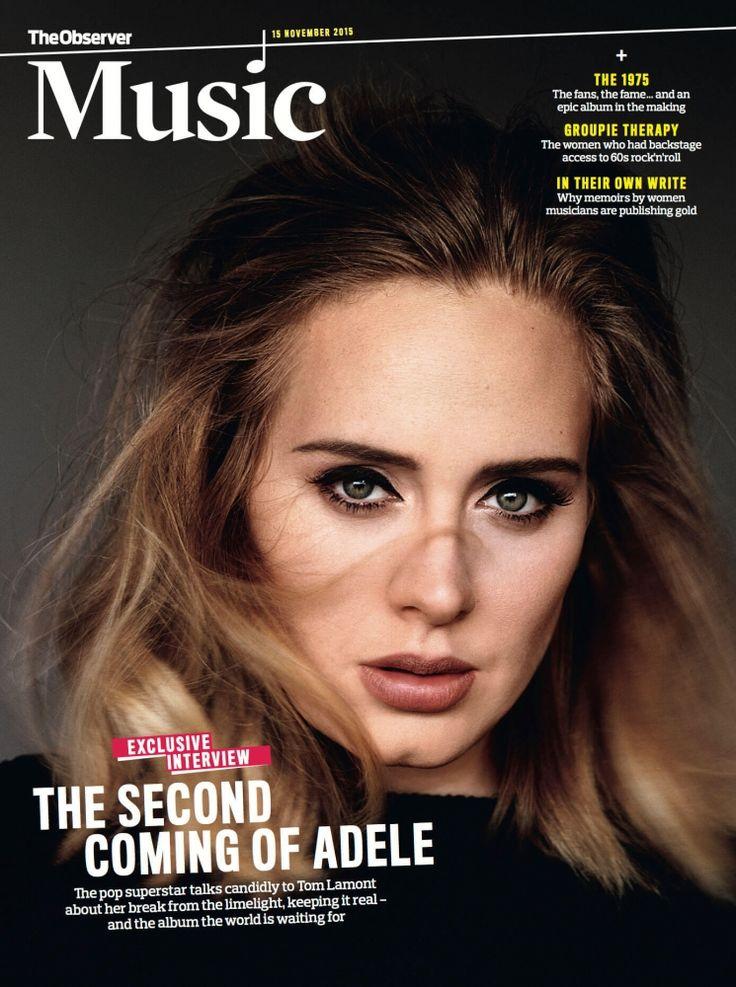 Beauty Mags: Adele | The Observer November 2015