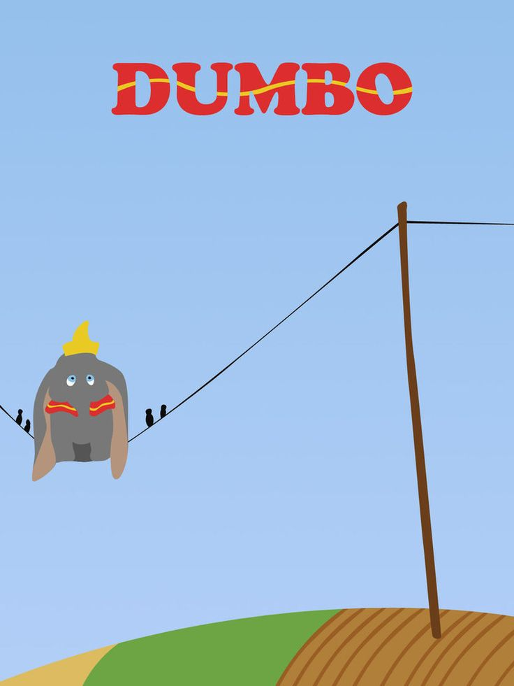 this Dumbo poster is cute!