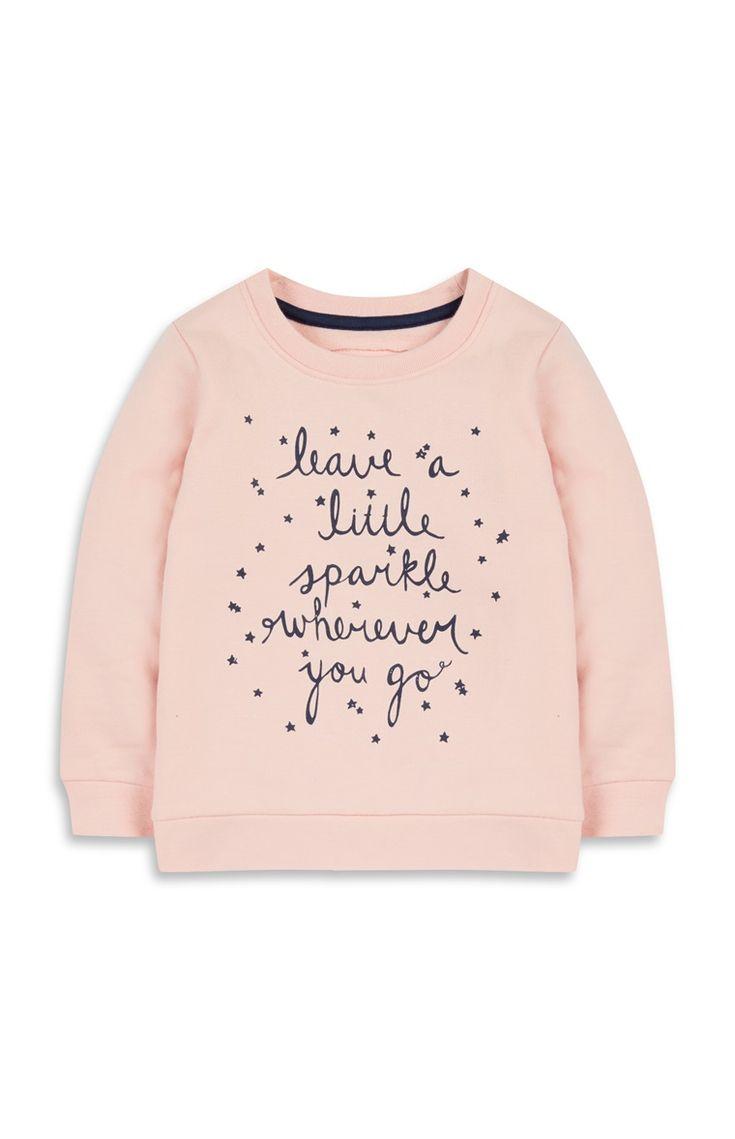 Baby Girl Sparkle Slogan Jumper