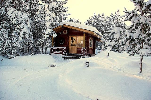 SAUNAKÜLA - Sauna in the snow!!!