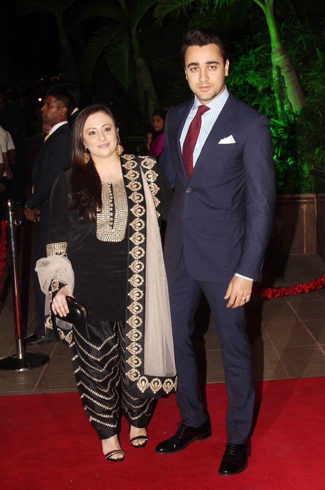 Imran Khan poses with wife Avantika at Arpita Khan's wedding reception in Mumbai. #Bollywood #Fashion #Style #Beauty #Handsome