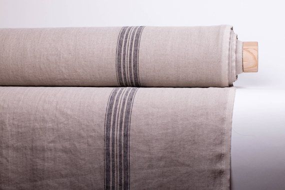 Pure 100 Linen Fabric By Yard Linen Fabric With Black Red Etsy In 2020 Rustic Linen Rustic Fabric Linen Fabric