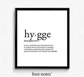 Hygge definition, romantic, love,dictionary art print, office decor, minimalist poster, funny definition print, definition poster, quotes