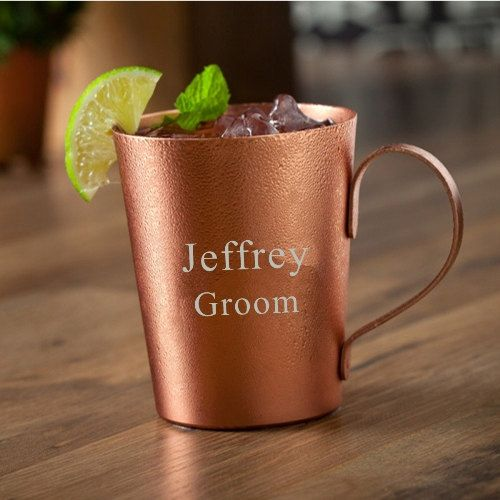 Aluminum Moscow Mule Cup Personalized Father's Day by ArniesGifts $18.99