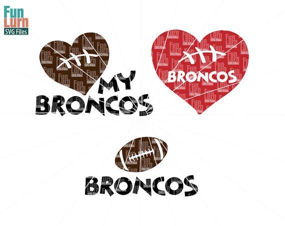 Football SVG Football season  Broncos  Football Love by FunLurnSVG