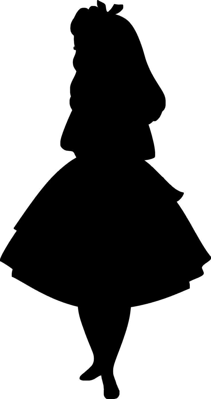 alice in wonderland silhouette free - Google Search