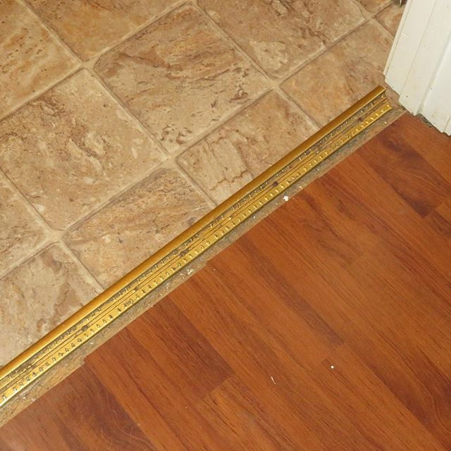 Who Takes Up Their Carpet To Replace It With Laminate Flooring And Leaves The Old Carpet Binding Strip In Place Watch Yo Laminate Flooring Old Things Flooring