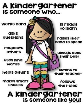 A Kindergartener is someone like you poster! This is a PDF file. Includes: 3 girls and 2 boys (color) Black and white posters for students to color/write (no lines) Black and white posters for students to color/write (lines) ________________________________________________________