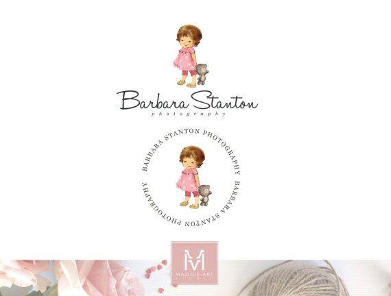 Baby Logo Design, Vintage Baby Logo, Baby Boutique Logo, Photography Logo, Kids Logo, Stamp Logo, Watermark