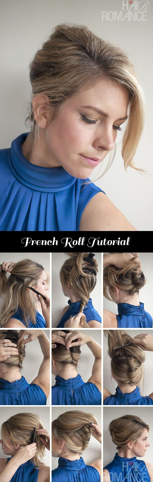 Vintage style – Classic French Roll Hairstyle Tutorial | Your guide on doing the classic french roll. #youresopretty