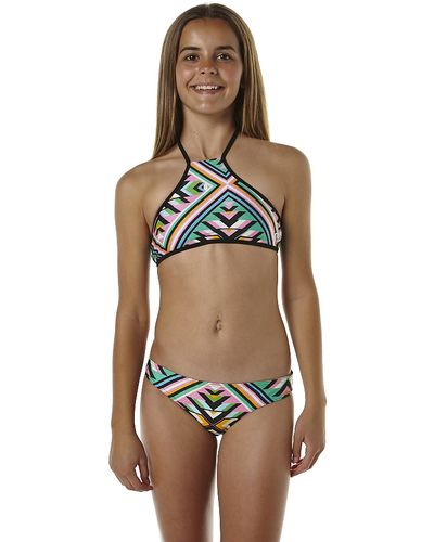 rip curl kids girls hearts desire halter bikini neon pink swimmers pinterest heart kid. Black Bedroom Furniture Sets. Home Design Ideas