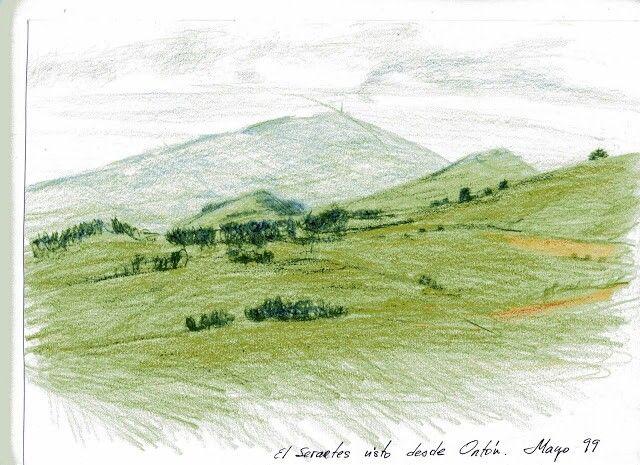 El monte Serantes visto desde Ontón.