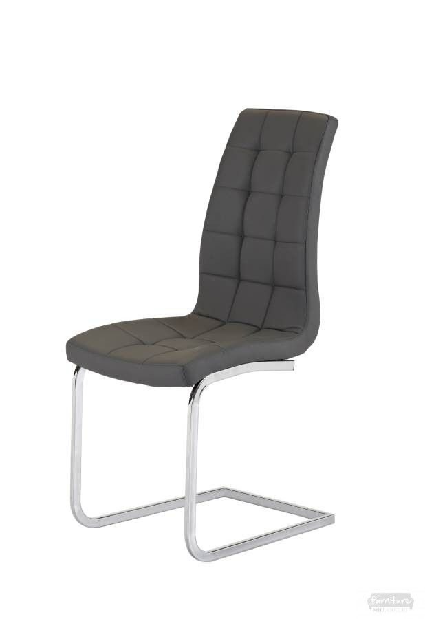 #ENZO #GREY #LEATHER #DINING #CHAIR Price : £49.99 Enzo Grey Leather Dining Chair High Quality Frame Soft Touch Faux Leather