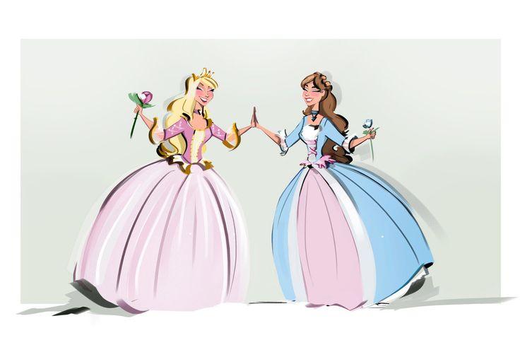 Barbie: the pink pauperess Princess and the blue pauperess Princess by didouchafik.deviantart.com on @DeviantArt