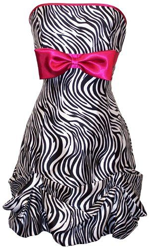 Great party dress!: Zebras Prints Dresses, Bridesmaid Dresses, Parties Dresses, Zebraprint, Parties Gowns, Zebras Dresses, Bows, Animal Prints, Prom Dresses