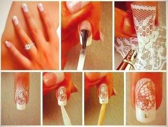 Lace Nail Art Tutorial