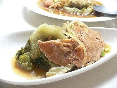 レタスと鶏肉の蒸し煮 #lettuce #chicken #sprout