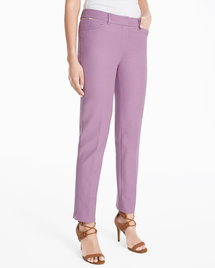 Curvy Body-Defining Ankle-Grazing Pants