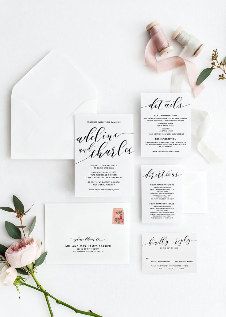 Wedding Invitation Suite Template Rustic Wedding Invitations For