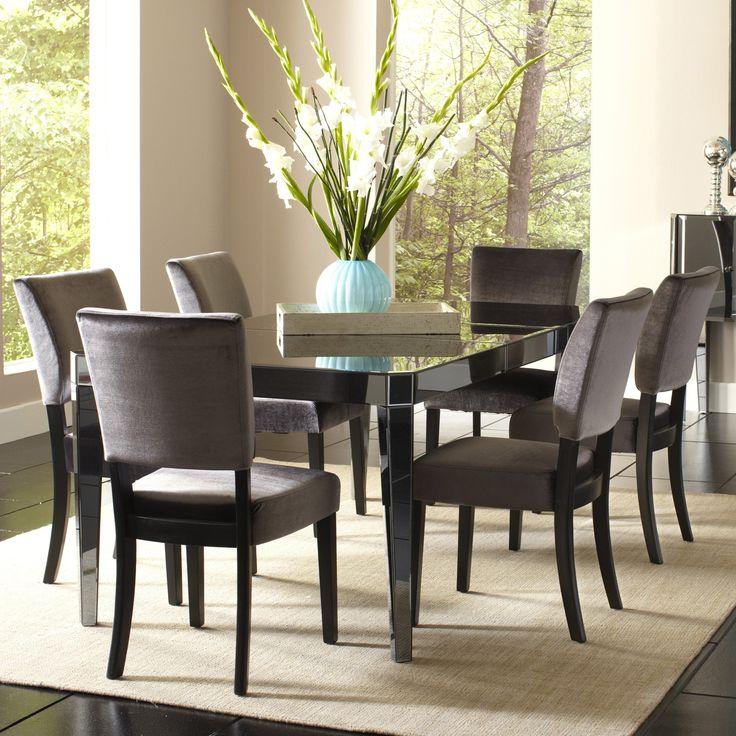 Standard Furniture Parisian 7 Piece Rectangular Mirrored Dining Table Set 13776