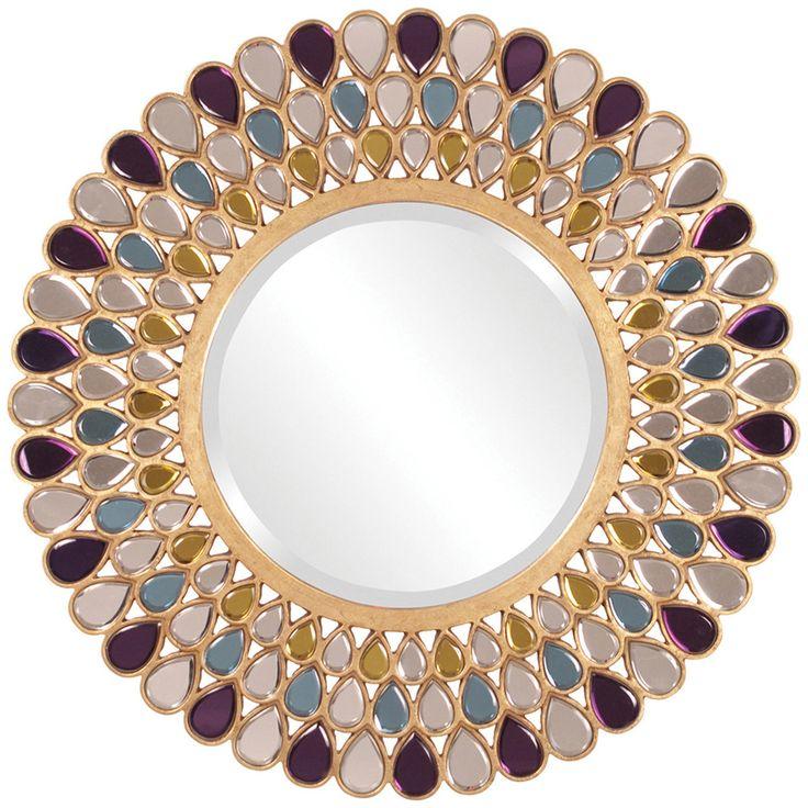34 Inch Round Mirror Part - 45: Howard Elliott Grace Round Mirror