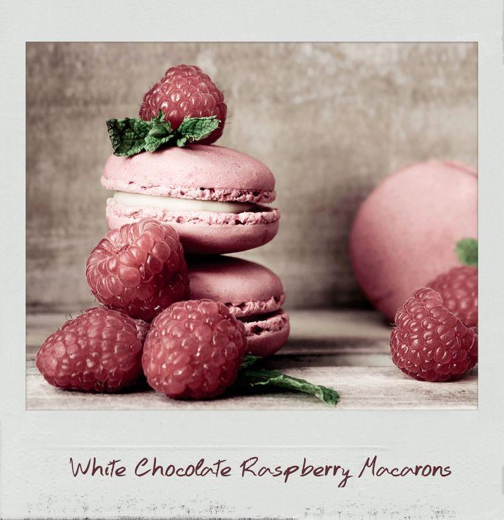 #White #Chocolate #Raspberry #Macarons. #PolaroidFx #Polaroid #Food #Recipe #Yummy #Sugar #Italy #Rome #Cook