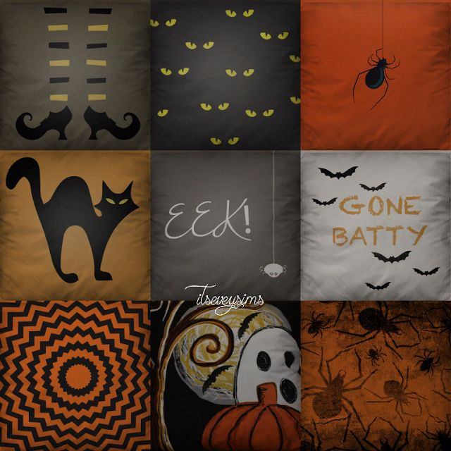The Sims 4 CC - Halloween Pillows Collection #2 - ~itseveysims~