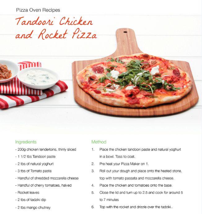 Tandoori Chicken and Rocket Pizza