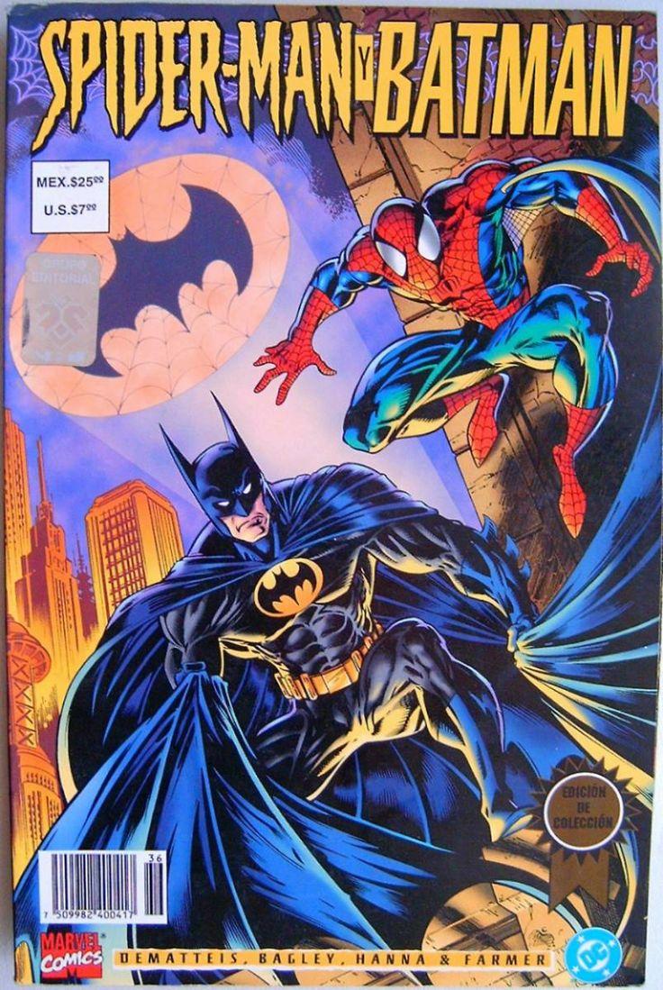 Batman Vs Spider Man Dc Marvel Comics Editorial Vid
