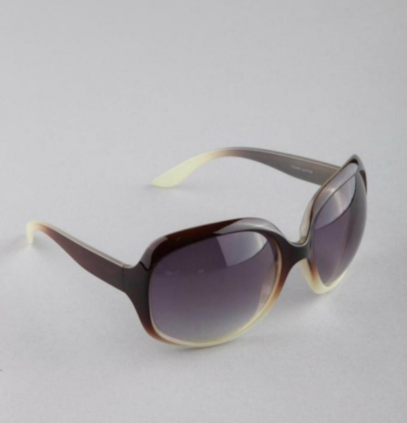Ladies Taupe & Chocolate Brown Round Sunglasses | Chici Fashion Jewellery