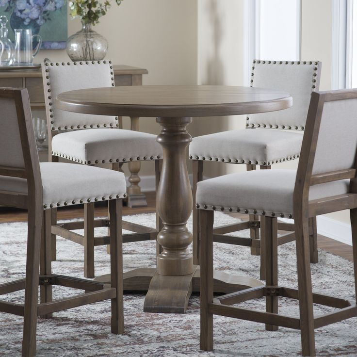 Belham Living Kennedy Round Counter, Round Gathering Table