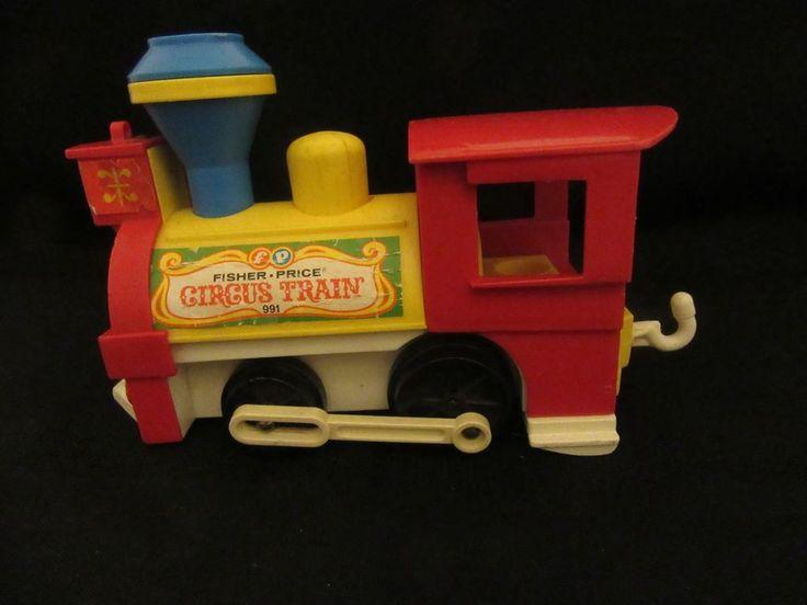 Vintage Fisher Price Circus Train Engine No. 991 Little People #FisherPrice