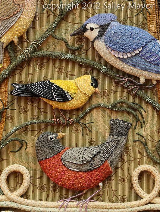 Райские птицы из войлока с вышивкой (21) (531x700, 586Kb)